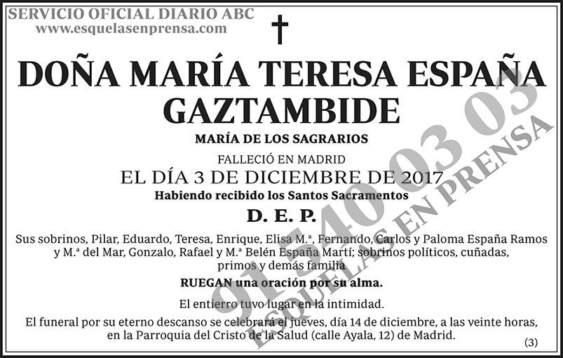 María Teresa España Gaztambide
